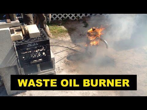 Waste Oil Burner for Melting Scrap Metals