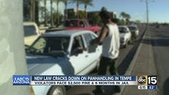 New law cracks down on panhandling in Tempe