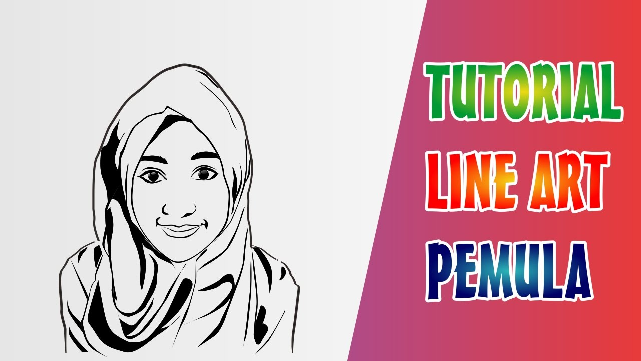 Line Art Corel Draw Tutorial : Corel draw tutorial cara buat line art dengan