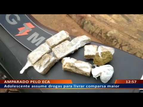 DFA - Adolescente assume drogas para livrar comparsa maior
