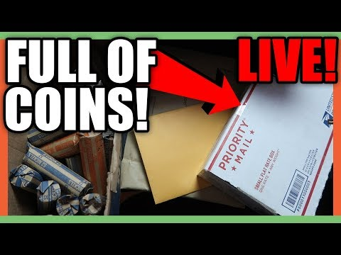 COIN ROLL HUNTING FOR SILVER - PACKAGES FULL OF COINS!!!