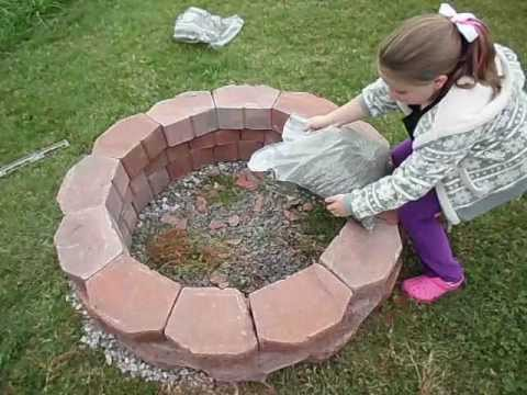 How to easily build a fire pit. - YouTube
