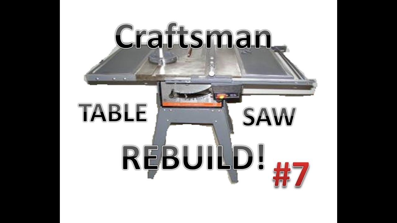 Table Saw Rebuild Motor Work Youtube