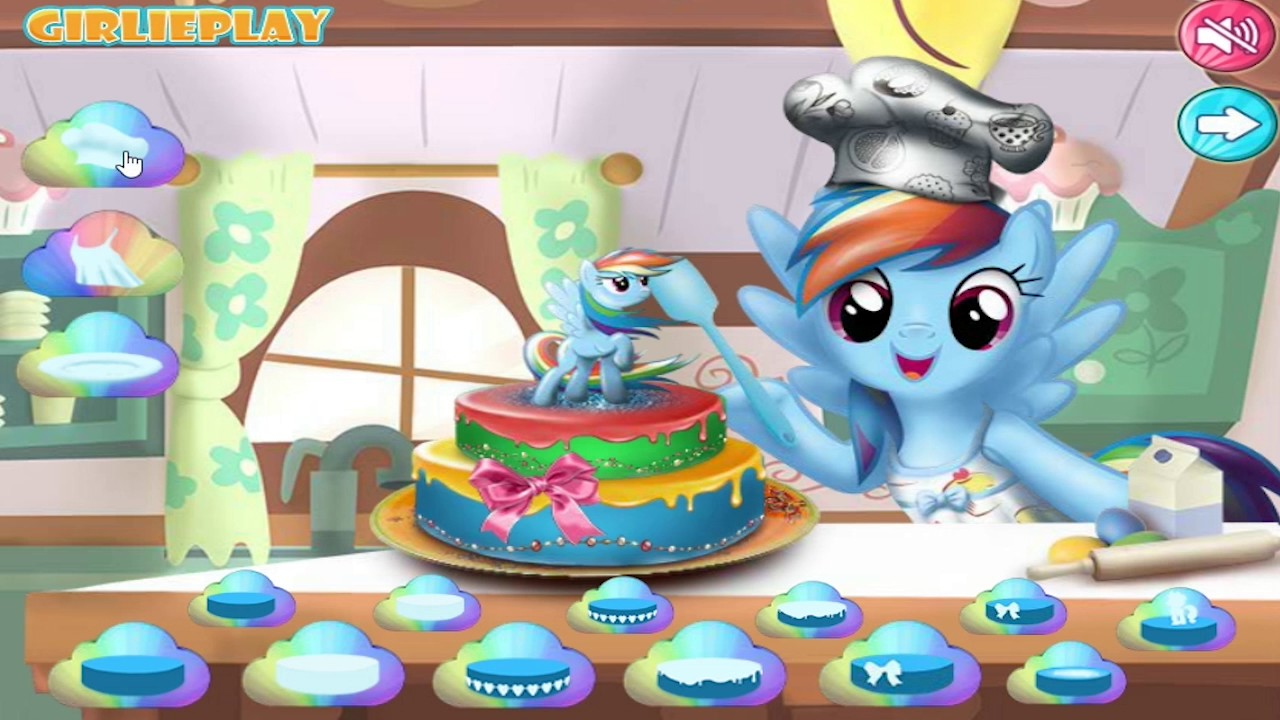 My Little Pony Cake Decoration Fun Video Games - YouTube