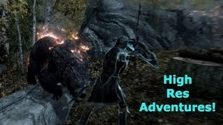 Skyrim High Res Adventures! The Elder Scrolls V Max Graphical Settings PC 1080p Full HD