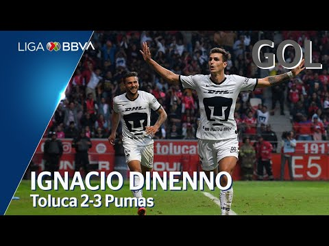 Toluca 2 - [3] Pumas (J. Dinenno 70')