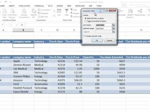 Excel 2013 Advanced Filter using a Macro