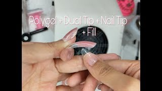Polygel + Dual Form + Nail Tip & Fill