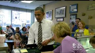 Obama stops for ice cream in Cedar Rapids