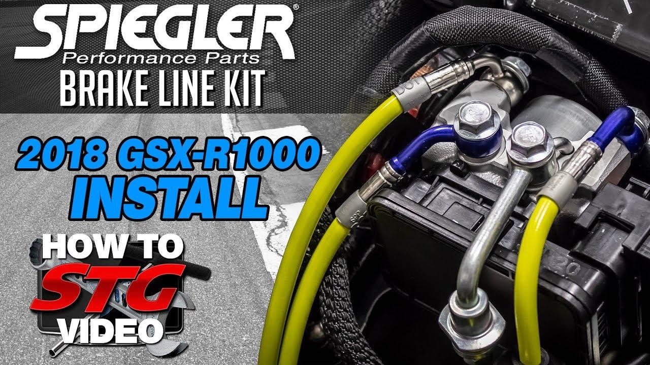 Spiegler 2018 Suzuki GSX-R1000 Brake Line Kit Install |  Sportbiketrackgear com