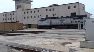 (HD) Inside Amtrak Chicago Coach Yard..Up Close
