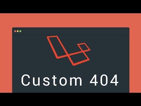 Laravel tutorial: Custom 404 (plus a small advice) - YouTube