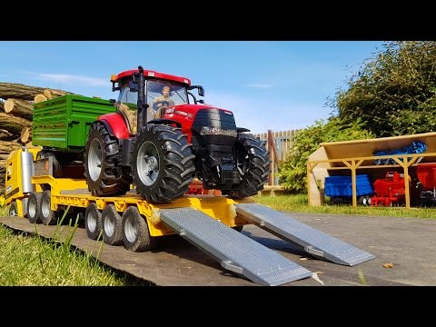 BRUDER RC tractors FARM sawdust transport