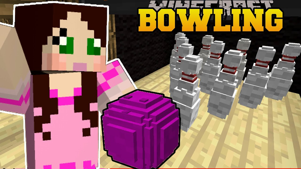 Minecraft BOWLING CHALLENGE WHO WILL GET THE HIGHEST SCORE Mini - Bowling map para minecraft 1 10