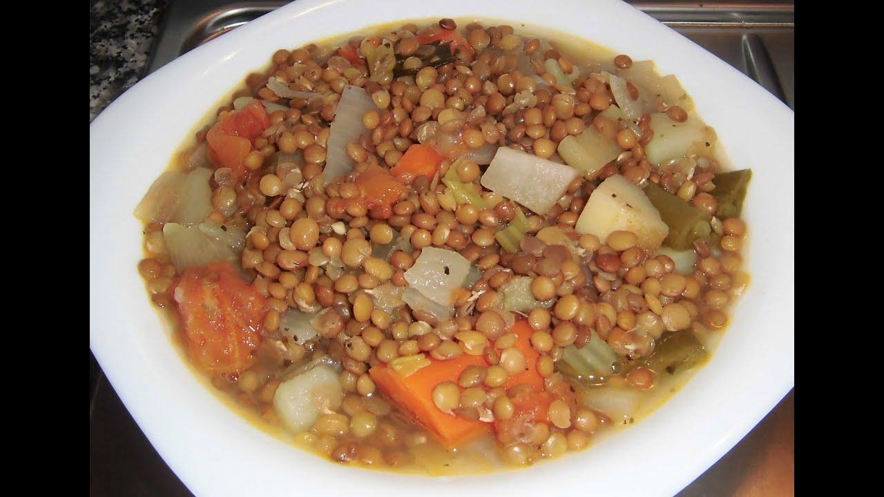 Lentejas con verduras youtube for Cocinar lentejas con verduras