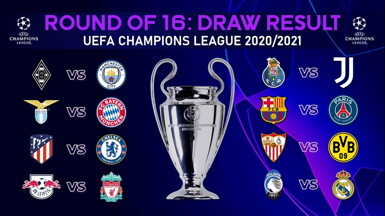Ucl Round Of 16 Draw 2020/21 - Champions League Draw 2020 ...