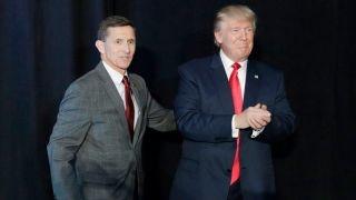 President Trump praises Gen. Flynn, slams