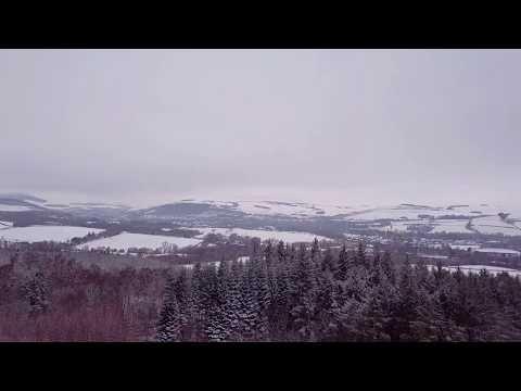 Snowfall in Scottish Borders