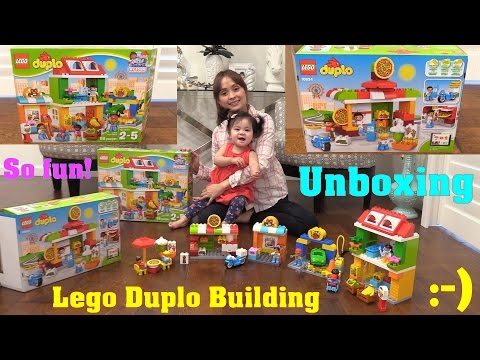 Toy Review Channel: Building LEGO. LEGO DUPLO My Town Unboxing, Building and Playtime Fun!