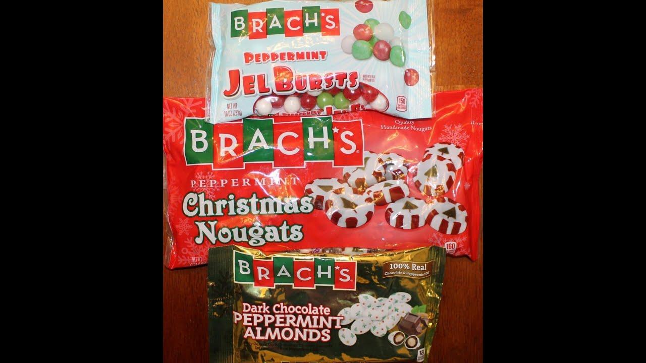 brachs peppermint gel bursts christmas nougats dark chocolate peppermint almonds review