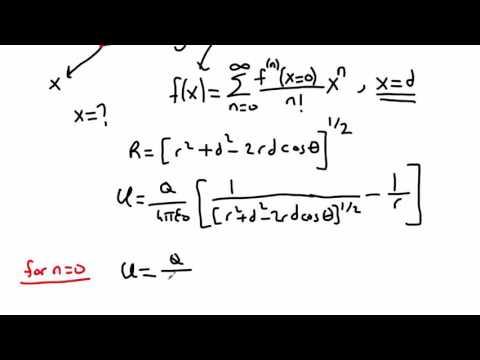 Elektromanyetik Teori Ders 19 Elektrostatik Dipol (with Taylor Expansion)