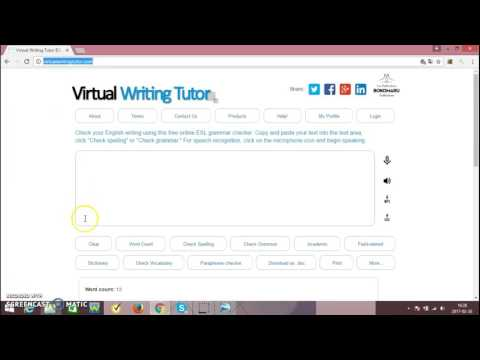 Virtual Writing Tutor - CHECK GRAMMAR