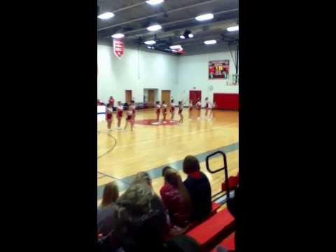 Poca Middle School  Cheerleaders Halftime Show