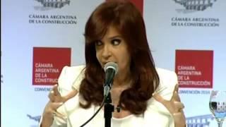 Cristina Fernandez - Camara Argentina de la Construcción - Discurso completo