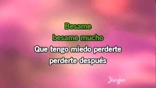 Karaoké Bésame mucho (Spanish Vocal) - 1940s Standards *