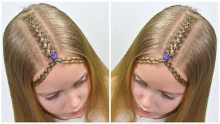TIARA BRAID hairstyle for medium and long hair💜 BOHO Chic 💜 Half up natural hair styles #61