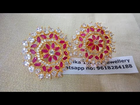 EPISODE=664 1gram gold Stud Earrings for women with whatsappnumber