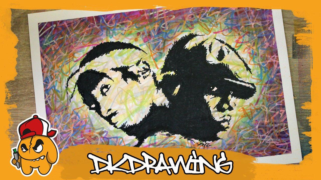 Drawing Tupac & Biggie Smalls Graffiti Stencil Pop Art