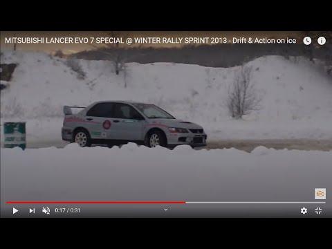 MITSUBISHI LANCER EVO 7 SPECIAL @ WINTER RALLY SPRINT 2013 - Drift & Action on ice