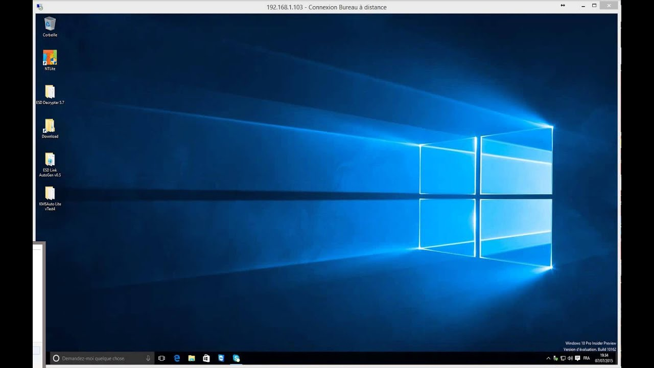 Tuto Windows 10 Connexion distance YouTube