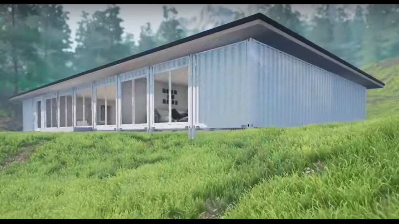 SCH8 9 X 40ft 4 Bedroom Container Home YouTube