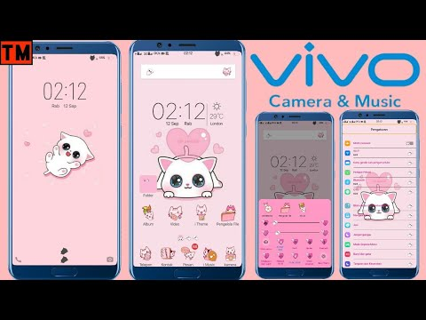 Tema Vivo Pink Cute Itz Cara Ganti Tema Vivo Youtube