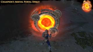 Path of Exile - Champion's Arrival Portal Effect