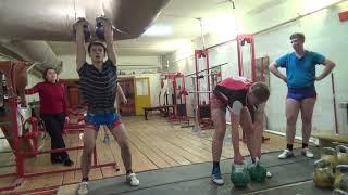 Гиревой спорт.Толчок Пирамида 20кг-28кг: 2мин. через 2отдыха