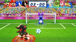 Mario & Sonic At The London 2012 Olympic Games Football #104 With Shadow, Sonic, Mario, Luigi