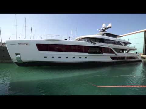 24 March 2016. Launch of M/Y Quinta Essentia at Admiral shipyard (Marina di Carrara, Italy).