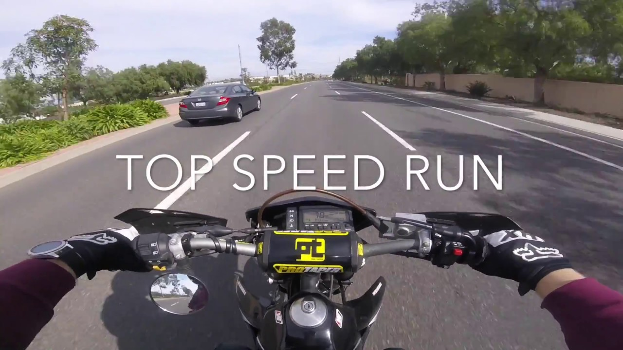 Top speed DRZ 400SM (100+mph) - YouTube