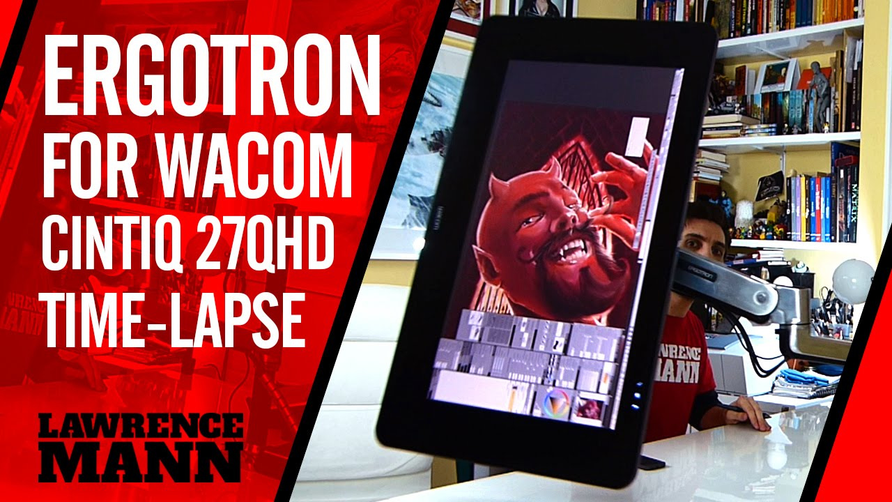 Ergotron LX Sit Stand Desk Mount LCD Arm Wacom Cintiq 27QHD Time Lapse