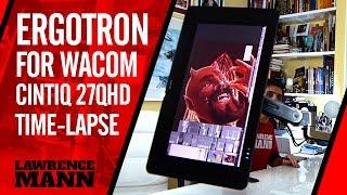 Ergotron LX Sit Stand Desk Mount LCD arm + Wacom Cintiq 27QHD Time-Lapse