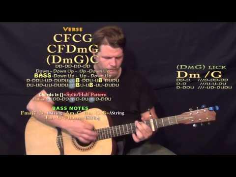 We Rode in Trucks (Luke Bryan) Guitar Lesson Chord Chart - Capo 4th Fret