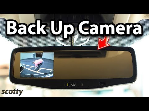 Installing A 20 Dollar Rear View Mirror Back Up Camera System