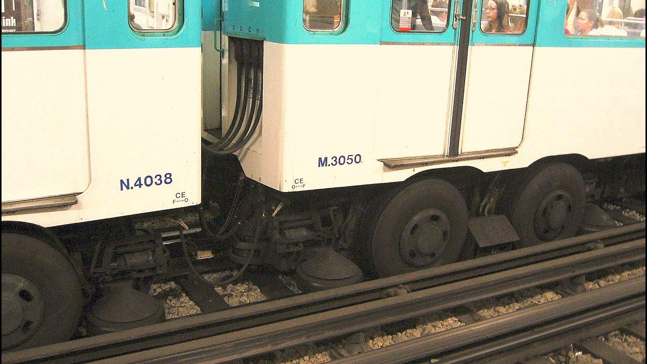 Train With Rubber Wheels Paris Metro Youtube