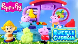bubble guppies play doh market peppa pig bubbletucky superstore playdough foods vegetables dctc