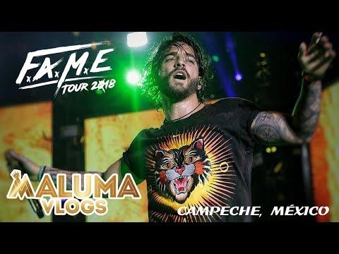 Concierto de Maluma en Campeche, México   F.A.M.E. Tour 2018   MalumaVlogs