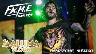 Concierto de Maluma en Campeche, México | F.A.M.E. Tour 2018 | MalumaVlogs