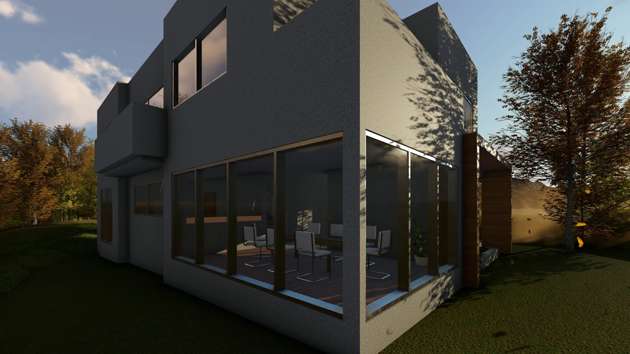 002 casa minimalista revit lumion 8 youtube